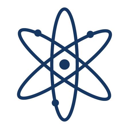 Molécula de átomo aislado icono de ilustración vectorial de diseño Foto de archivo - 108043977