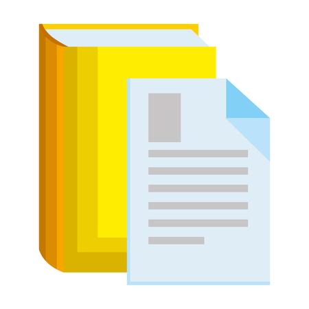 text book with document vector illustration design Иллюстрация
