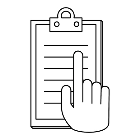 hand with checklist clipboard vector illustration design Banque d'images - 110176887