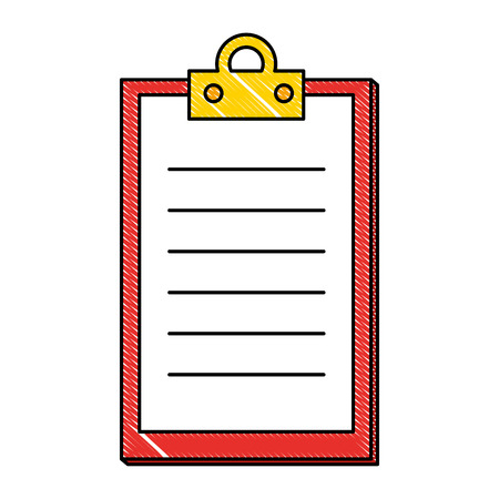 checklist clipboard isolated icon vector illustration design Stock Photo