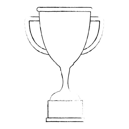 trophy cup isolated icon vector illustration design Иллюстрация