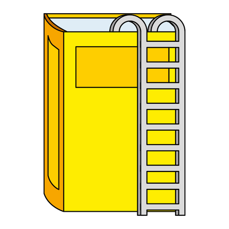 text book with stairs vector illustration design
