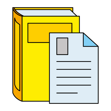 text book with document vector illustration design  イラスト・ベクター素材