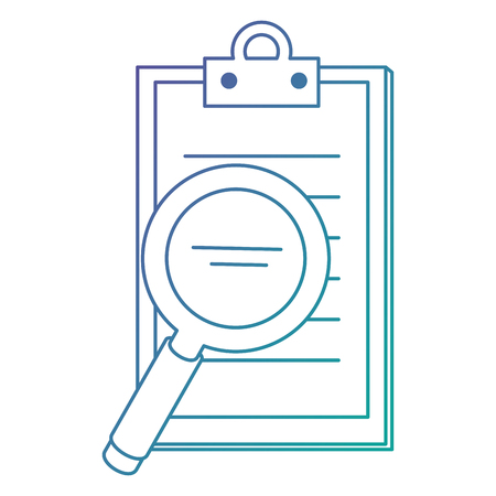 checklist clipboard with magnifying glass vector illustration design Banque d'images - 110154692