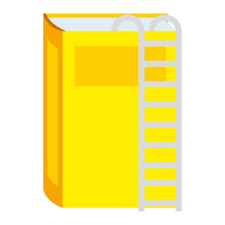 text book with stairs vector illustration design Illustration
