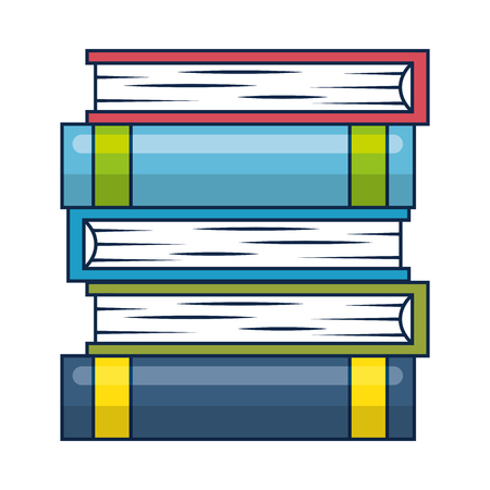 pile text books isolated icon vector illustration design Ilustrace