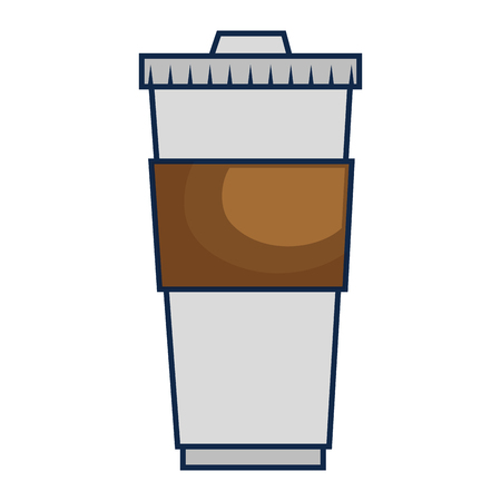 coffee drink in plastic container vector illustration design