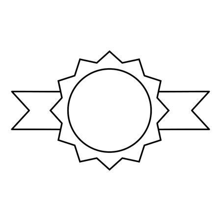 joint avec ruban icône vector illustration design
