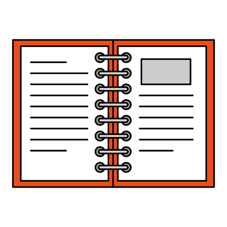 notebook school isolated icon vector illustration design