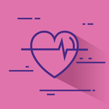 heart cardio healthy icon vector illustration design