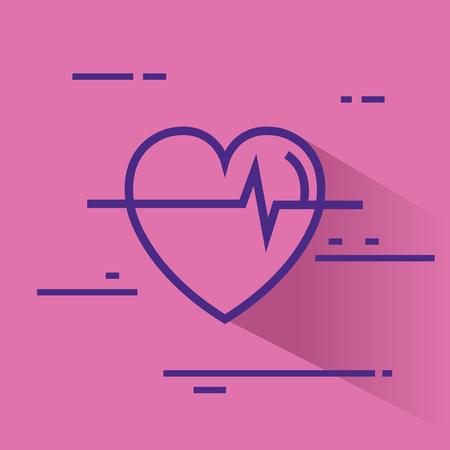 Herz Cardio gesunde Ikone Vektor-Illustration Design