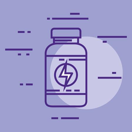 energy bottle plastic product vector illustration design  イラスト・ベクター素材