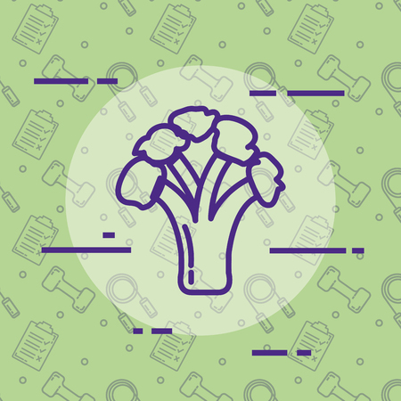 fresh broccoli healthy food vector illustration design
