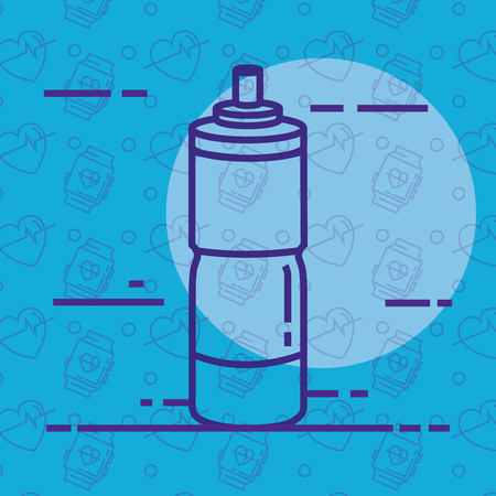 bottle water gym icon vector illustration design