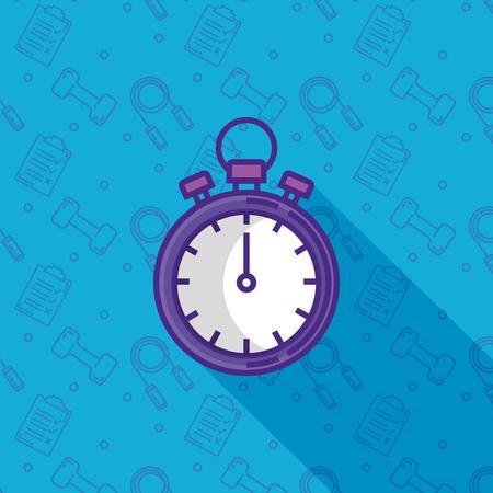 chronometer timer fitness icon vector illustration design Banque d'images - 110155231