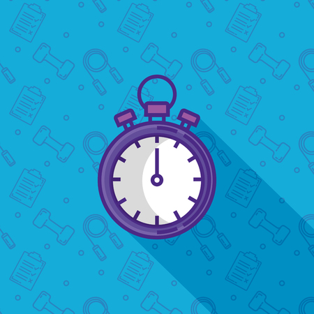 chronometer timer fitness icon vector illustration design
