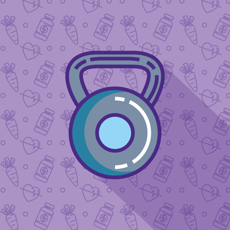 weight dumbell healthy lifestyle vector illustration design
