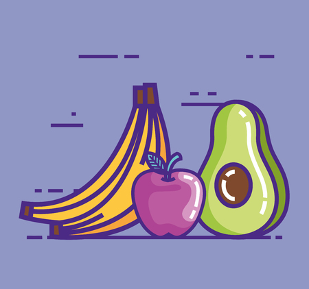 healthy food lifestyle icons vector illustration design
