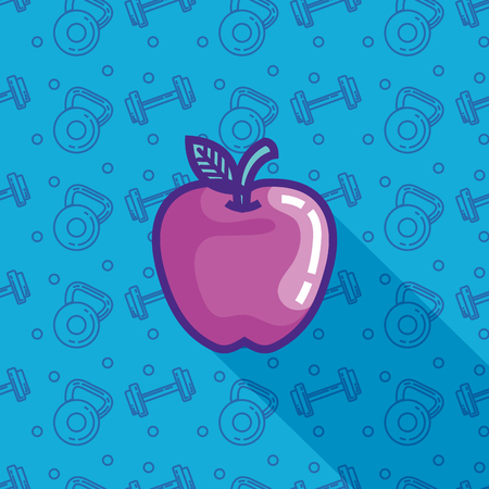 fresh apple healthy food vector illustration design