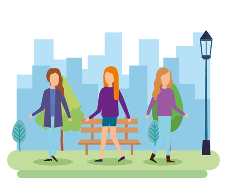 group of people on the park vector illustration design Banco de Imagens - 110155364