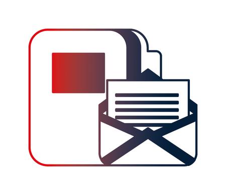 envelope mail with folder vector illustration design 일러스트