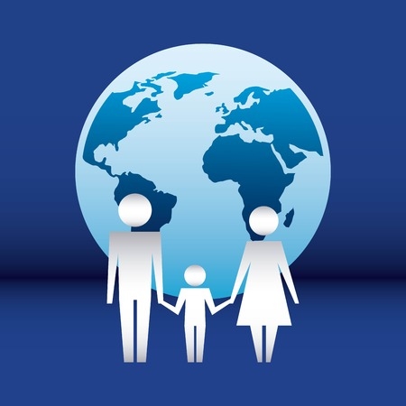 family protection world couple united hands child love vector illustration 스톡 콘텐츠 - 108157823