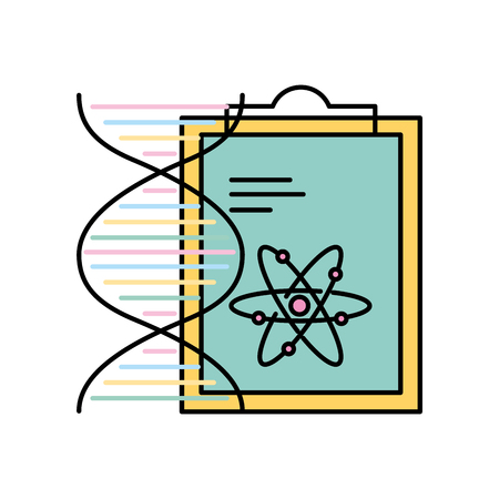 chemistry clipboard dna atom molecule structure vector illustration