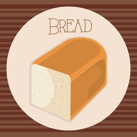 delicious and fresh bread toast vector illustration design