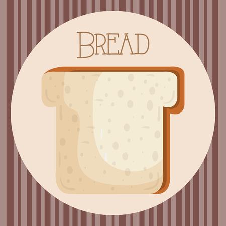 delicious and fresh bread toast vector illustration design Ilustrace