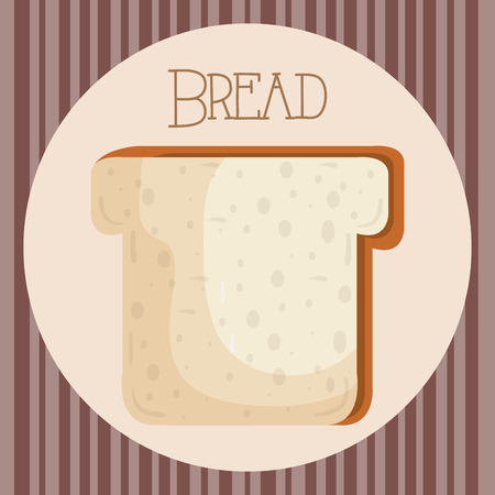 delicious and fresh bread toast vector illustration design Illustration