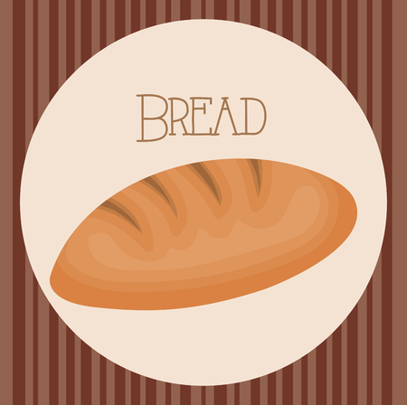 delicious and fresh bread vector illustration design