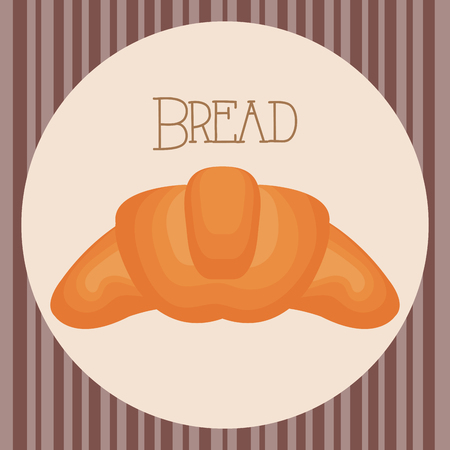 delicious and fresh bread croissant vector illustration design