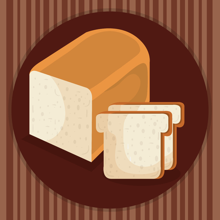 delicious and fresh bread toast vector illustration design Banque d'images - 109988458