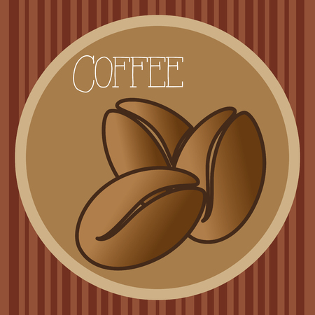 delicious coffee grains poster vector illustration design