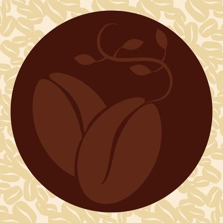 delicious coffee grains poster vector illustration design