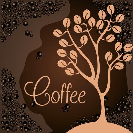 delicious coffee plant poster vector illustration design