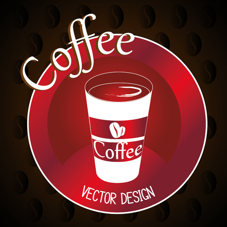 delicious coffee in cup plastic vector illustration design