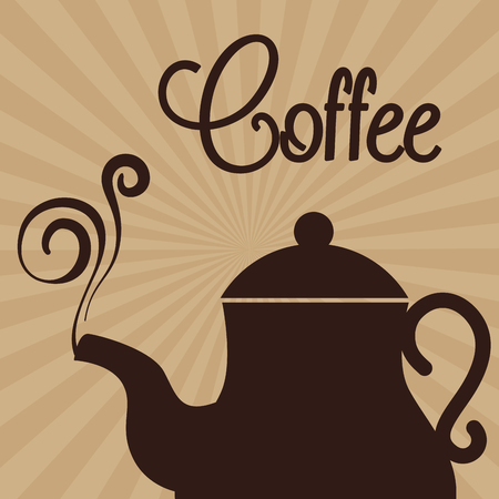 delicious coffee in teapot vector illustration design 向量圖像