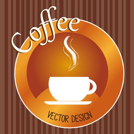 heerlijk koffiekopje drinken vector illustratie ontwerp