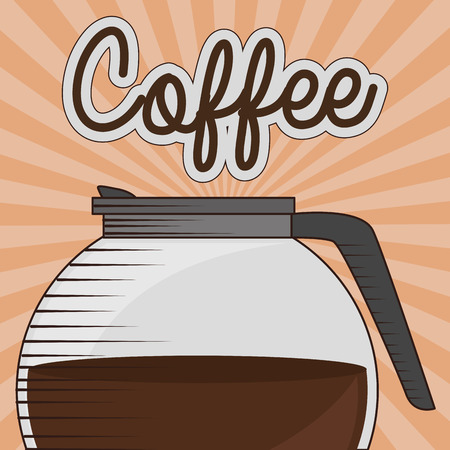 delicious coffee in teapot vector illustration design 向量圖像