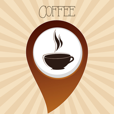 delicious coffee cup drink vector illustration design