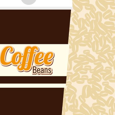 delicious coffee in cup plastic vector illustration design