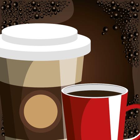 delicious coffee shop poster vector illustration design 向量圖像
