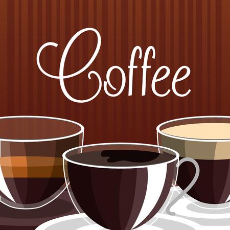 delicious coffee shop poster vector illustration design Illustration