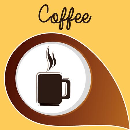 delicious coffee cup drink vector illustration design