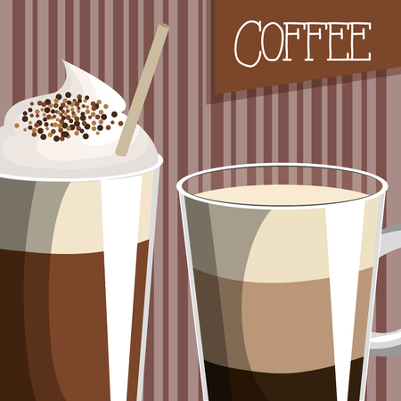 delicious coffee shop poster vector illustration design  イラスト・ベクター素材