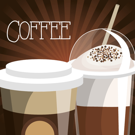 delicious coffee shop poster vector illustration design 일러스트