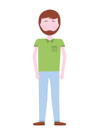 young man avatar character vector illustration design Ilustración de vector