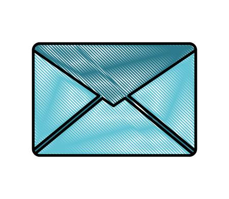 email envelope message communication icon vector illustration