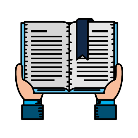 hands with text book vector illustration design  イラスト・ベクター素材